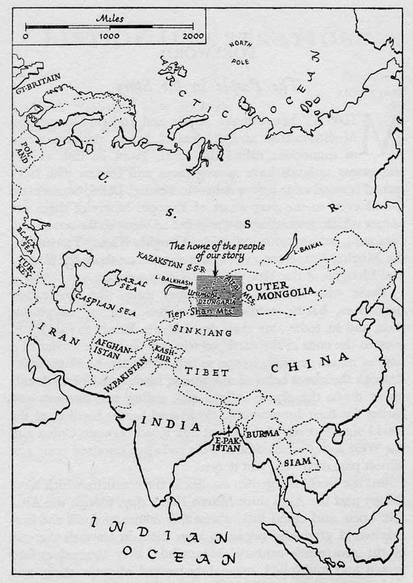 Celestial Mountains Map or Celestial Mountains
